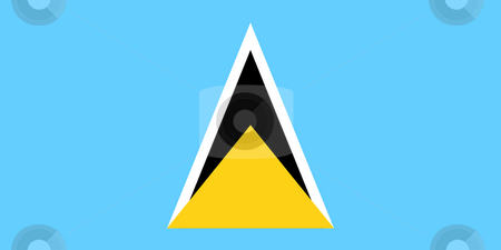 Saint Lucia Flag stock photo, Sovereign state flag of country of Saint Lucia in official colors. by Martin Crowdy