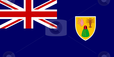Turks and Caicos Islands stock photo, Sovereign state flag of dependent country of Turks and Caicos Islands in official colors. by Martin Crowdy