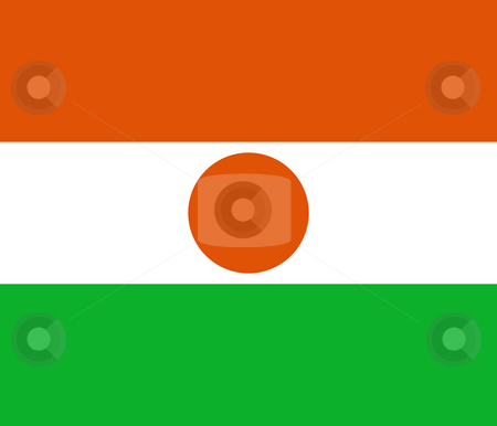 Niger Flag stock photo, Sovereign state flag of country of Niger in official colors. by Martin Crowdy