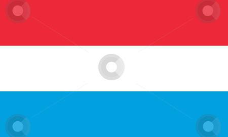 Luxembourg Flag stock photo, Sovereign state flag of country of Luxembourg in official colors. by Martin Crowdy
