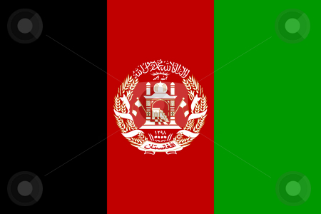 Afghanistan Flag stock photo, Sovereign state flag of country of Afghanistan in official colors. by Martin Crowdy