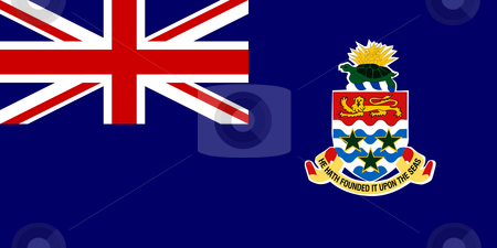 Cayman Islands stock photo, Sovereign state flag of dependent country of Cayman Islands in official colors. by Martin Crowdy