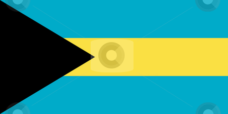 Bahamas Flag stock photo, Sovereign state flag of country of Bahamas in official colors. by Martin Crowdy