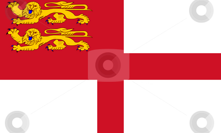 Sark Flag stock photo, Sovereign state flag of dependent country of Sark in official colors. by Martin Crowdy