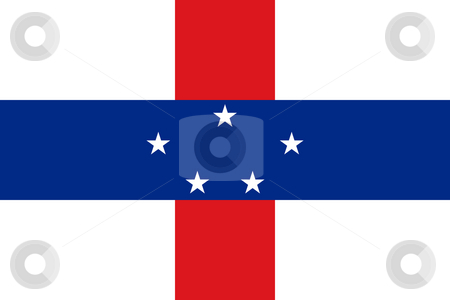 Netherlands Antilles stock photo, Sovereign state flag of dependent country of Netherlands Antilles in official colors. by Martin Crowdy