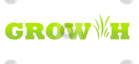 Business growth concept stock photo, Conceptual image of green business growth, isolated on white background. by Martin Crowdy