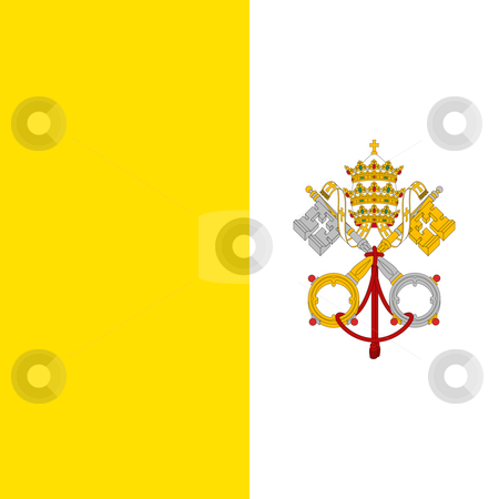 Vatican City Flag stock photo, Sovereign state flag of country of Vatican City in official colors. by Martin Crowdy