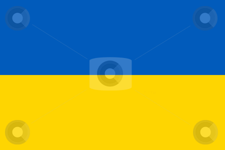 Ukraine Flag stock photo, Sovereign state flag of country of Ukraine in official colors. by Martin Crowdy