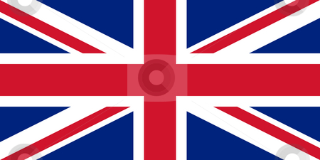 United Kingdom Flag stock photo, Sovereign state flag of country of United Kingdom in official colors. by Martin Crowdy
