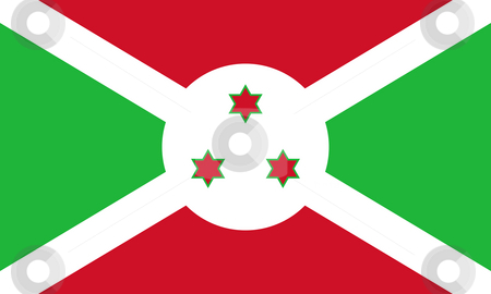 Burundi flag stock photo, Sovereign state flag of country of Burundi in official colors. by Martin Crowdy