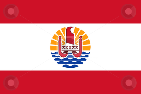 French Polynesia Flag stock photo, Sovereign state flag of dependent country of French Polynesia in official colors. by Martin Crowdy