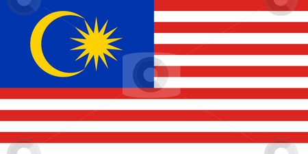 Malaysia Flag stock photo, Sovereign state flag of country of Malaysia in official colors. by Martin Crowdy