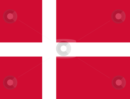 Denmark Flag stock photo, Sovereign state flag of country of Denmark in official colors. by Martin Crowdy
