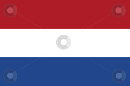 Netherlands Flag stock photo, Sovereign state flag of country of Netherlands in official colors. by Martin Crowdy