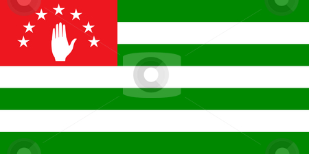 Abkhazia flag stock photo, Sovereign state flag of country of Abkhazia in official colors. by Martin Crowdy