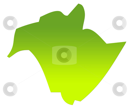 New Brunswick map stock photo, New Brunswick province of Canada map in gradient green, isolated on white background. by Martin Crowdy