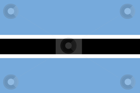 Botswana Flag stock photo, Sovereign state flag of country of Botswana in official colors. by Martin Crowdy