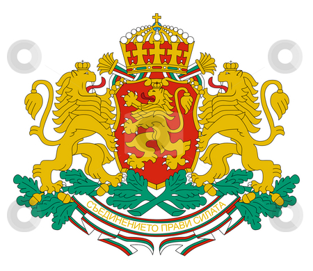 Bulgaria Coat of Arms stock photo, Bulgaria coat of arms, seal or national emblem, isolated on white background. by Martin Crowdy