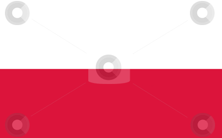 Poland Flag stock photo, Sovereign state flag of country of Poland in official colors. by Martin Crowdy