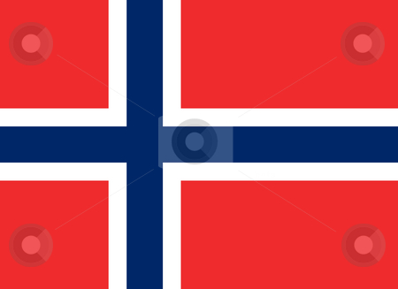 Norway Flag stock photo, Sovereign state flag of country of Norway in official colors. by Martin Crowdy