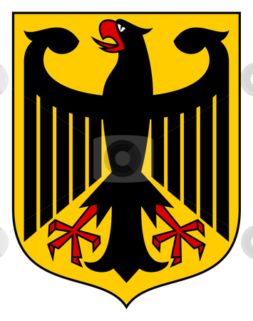 Germany Coat of Arms stock photo, Germany coat of arms, seal or national emblem, isolated on white background. by Martin Crowdy