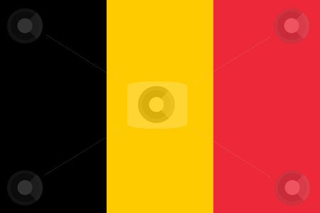 Belgium Flag stock photo, Sovereign state flag of country of Belgium in official colors. by Martin Crowdy