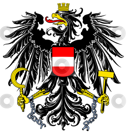 Austria Coat or Arms stock photo, Austria coat of arms, seal or national emblem, isolated on white background. by Martin Crowdy