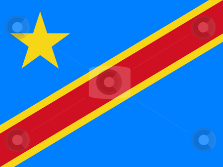 Democratic Republic of Congo stock photo, Sovereign state flag of country of Democratic Republic of Congo in official colors. by Martin Crowdy