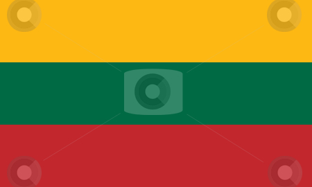 Lithuania Flag stock photo, Sovereign state flag of country of Lithuania in official colors. by Martin Crowdy