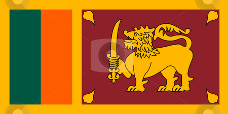 Sri Lanka Flag stock photo, Sovereign state flag of country of Sri Lanka in official colors. by Martin Crowdy