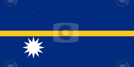Nauru Flag stock photo, Sovereign state flag of country of Nauru in official colors. by Martin Crowdy