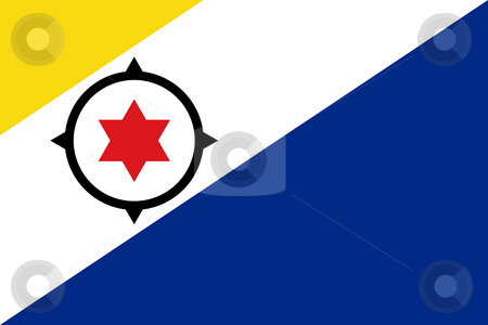 Bonaire Flag stock photo, Sovereign state flag of dependent country of Bonaire in official colors. by Martin Crowdy