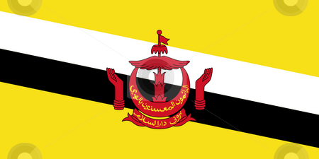 Kingdom of Brunei flag stock photo, Sovereign state flag of country of Kingdom of Brunei flag in official colors. by Martin Crowdy