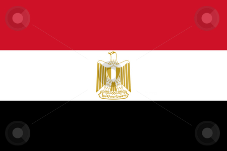 Egypt flag stock photo, Sovereign state flag of country of Egypt in official colors. by Martin Crowdy