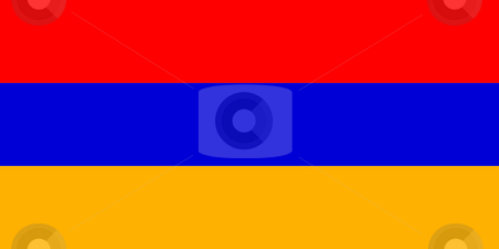 Armenia flag stock photo, Sovereign state flag of country of Armenia in official colors. by Martin Crowdy