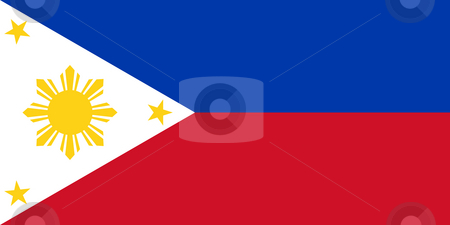 Philippines Flag stock photo, Sovereign state flag of country of Philippines in official colors. by Martin Crowdy