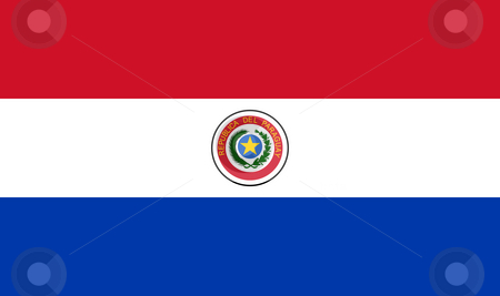 Paraguay Flag stock photo, Sovereign state flag of country of Paraguay in official colors. by Martin Crowdy