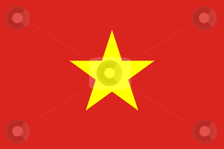 Vietnam Flag stock photo, Sovereign state flag of country of Vietnam in official colors. by Martin Crowdy