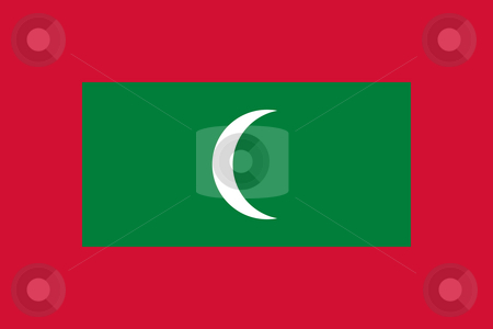 Maldives Flag stock photo, Sovereign state flag of country of Maldives in official colors. by Martin Crowdy