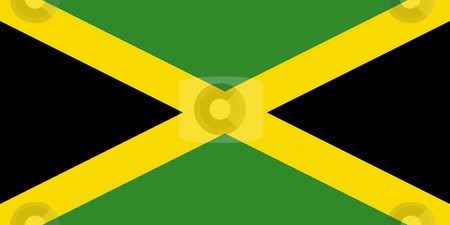 Jamaica Flag stock photo, Sovereign state flag of country of Jamaica in official colors. by Martin Crowdy