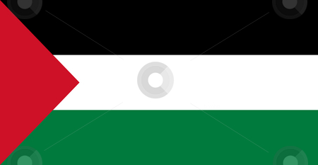 Palestine Flag stock photo, Sovereign state flag of country of Palestne in official colors. by Martin Crowdy