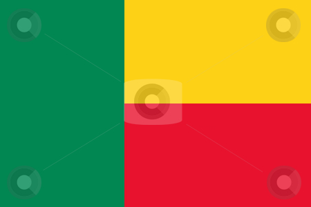 Benin Flag stock photo, Sovereign state flag of country of Benin in official colors. by Martin Crowdy