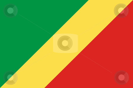 Republic of the Congo stock photo, Sovereign state flag of country of Republic of the Congo in official colors. by Martin Crowdy