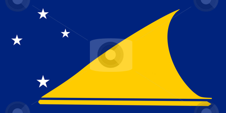 Tokelau Flag stock photo, Sovereign state flag of dependent country of Tokelau in official colors. by Martin Crowdy
