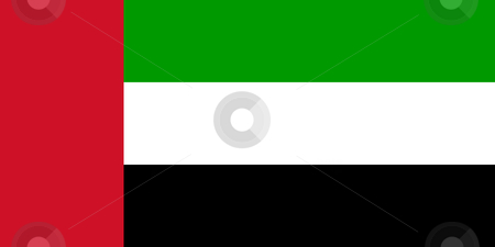 United Arab Emirates stock photo, Sovereign state flag of country of United Arab Emirates in official colors. by Martin Crowdy