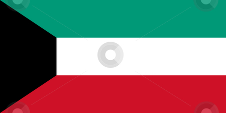 Kuwait flag stock photo, Sovereign state flag of country of Kuwait in official colors. by Martin Crowdy