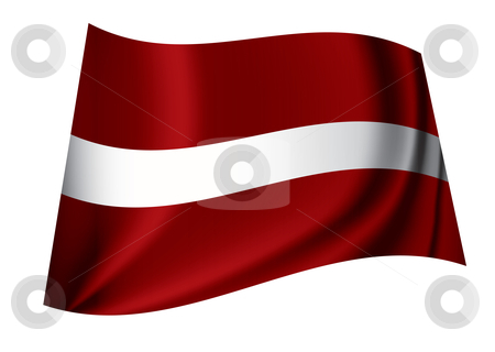 Latvia flag stock vector clipart, Flag of the latvian nation ideal symbol or icon in red and white by Michael Travers