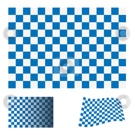 Checkered blue flag stock vector clipart, Blue and white checkered flag icon ideal racing concept by Michael Travers