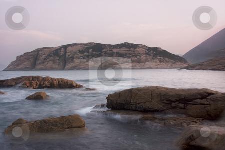 Beautiful sunset over the sea  stock photo, Beautiful sunset over the sea by Keng po Leung
