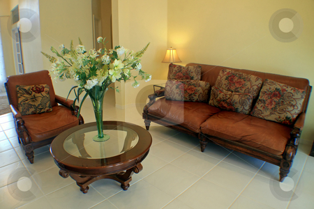 Sitting Room stock photo, An Interior Sitting Room of a Home by Lucy Clark